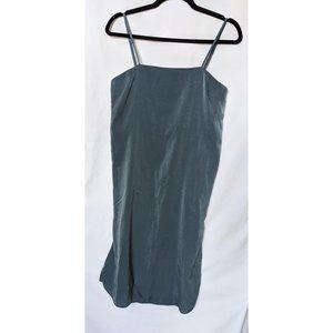 Lulus In Action Slate Blue Satin Slip Dress